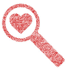 Find love fabric textured icon vector