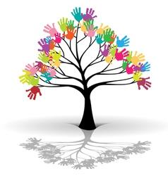 Kids tree vector image vector image