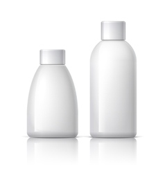 Realistic White plastic Cosmetics bottle vector image vector image