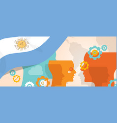 argentina concept of thinking growing innovation vector image vector image