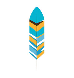 bird feather symbol vector image