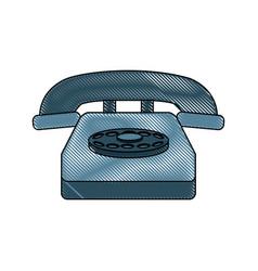 classic telephone communication call device retro vector image