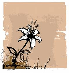 flower wall illustration vector image vector image