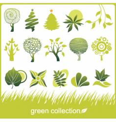 icon trees vector image vector image