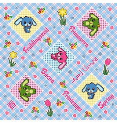 Seamless plaid pattern vector image vector image
