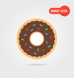 simple donut icon with shadow vector image vector image