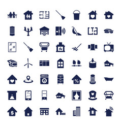 49 home icons vector