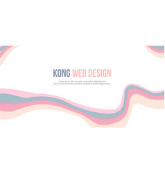 Abstract background header website wave design vector