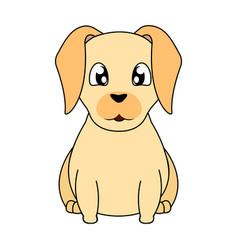 Abstract cute dog vector