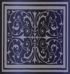Abstract Dark Blue Background of Elegant Vintage vector image