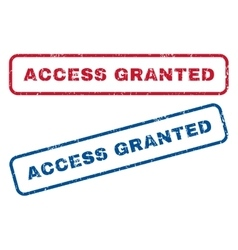 Access granted rubber stamps vector