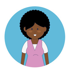 African cute woman ethnicity character vector