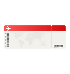 airline tickets or boarding pass inside of vector image