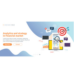 analytics and strategy in financial market vector image