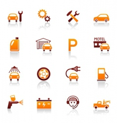 Auto service and repair icons vector