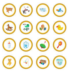 baby cartoon icon circle vector image