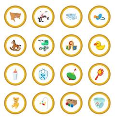 bacartoon icon circle vector image