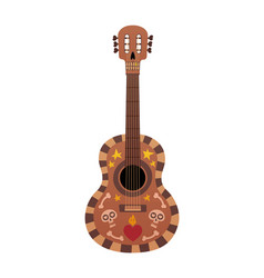 beautiful guitar with design for vector image