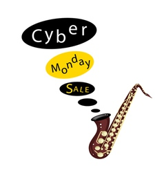 Beautiful Guitars Background of for Cyber Monday vector