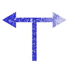 Bifurcation arrows left right grunge textured icon vector