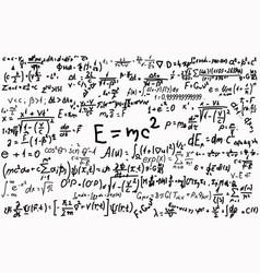 Blackboard inscribed with scientific formulas and vector