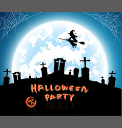 blue backgroundfestival halloween concept vector image