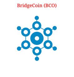 Bridgecoin bco logo vector