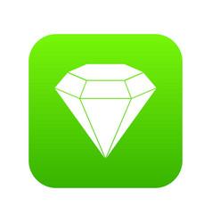 brilliant gemstone icon digital green vector image
