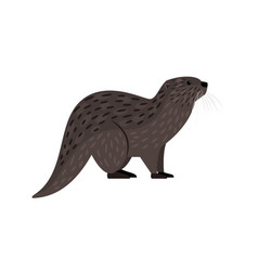 brown otter icon vector image