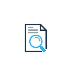 Browse document logo icon design vector
