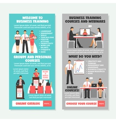 Business Training Vertical Banners vector