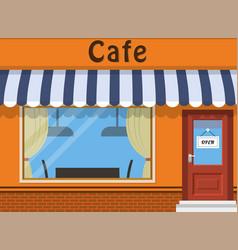 cafe shop exterior vector image