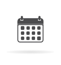 calendar icon flat web mobile icon vector image