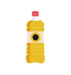 Can of vegetable oil for cooking meal isolated vector