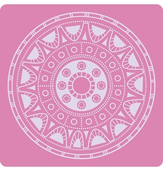 Celtic ornament on pink vector image