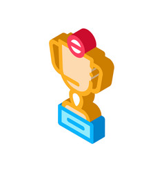 champion cup isometric icon vector image