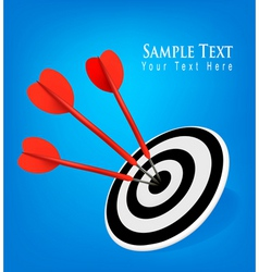 concept with three drats blue background vector image