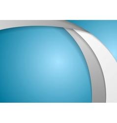Corporate wavy background vector image