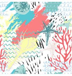 creative abstract watercolor marine seamless vector image