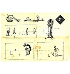 croquet vector image