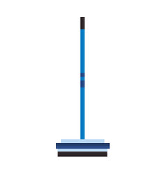 Curling broom extreme sport equipment vector