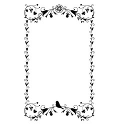 decorative frame in vintage style with floral vector image