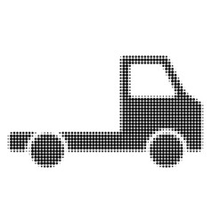 Delivery car chassi halftone dotted icon vector
