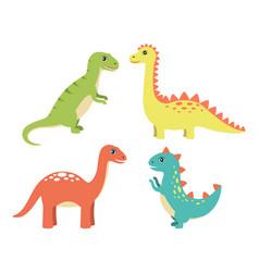 Dino collection types set vector