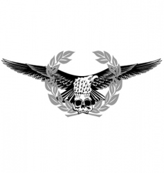Eagle and skull vector