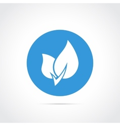 Eco leaf flat icon vector image