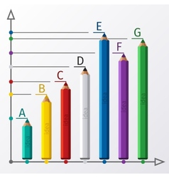 Education pencil staircase infographics option vector image