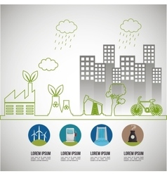 environmental issues infographic elements vector image