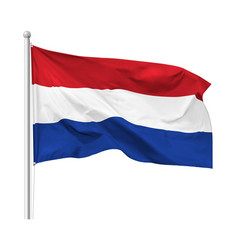 Flag kingdom netherlands isolated vector
