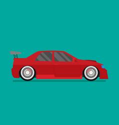 flat racing car eps 10 vector image